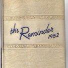 Aldrich High School Lakewood Warwick RI 1952 Year Book