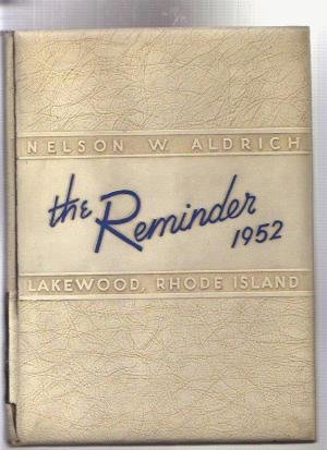 Aldrich High School Lakewood Warwick RI 1952 Year Book