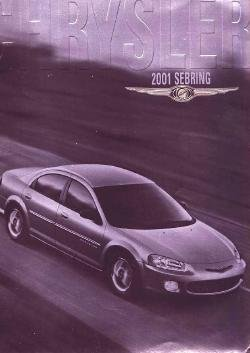 2001 CHRYSLER SEBRING CAR AUTO DEALER SALES BROCHURE