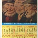 RAWLEIGHS GOOD HEALTH PRODUCTS CALENDAR 1947 1948