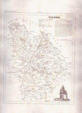 2 1835 VIENNE French Antique Atlas Maps Cartography