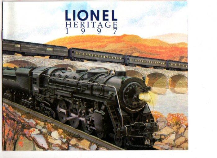 1997 Lionel Heritage Sets Electric Toy RR Model Trains Catalog