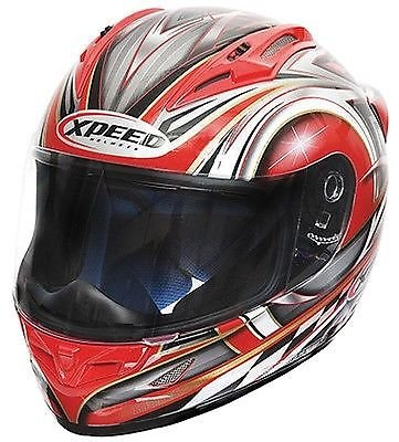 New Xpeed XF705 Spider Full Face Helmet -Medium/Red