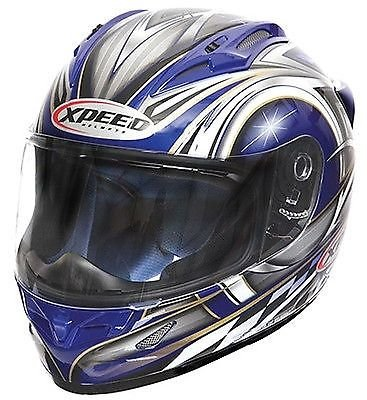 New Xpeed XF705 Spider Full Face Helmet - Medium/Blue