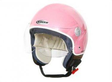 Speedracer/Vintage Style XPeed XF207 - Size XS - Helmet in Pearl Pink