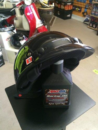 Biker/Vintage Style Fulmer Ranger - Size S - Helmet in Gloss Black