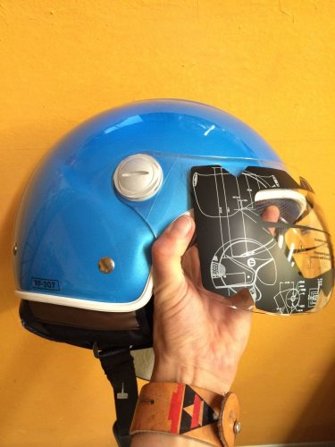 NEW Speedracer/Vintage Style XPeed XF207 - Size L - Helmet in Sky Blue