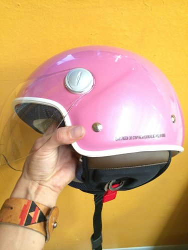 NEW Speedracer/Vintage Style XPeed XF207 - Size XL - Helmet in Pearl Pink