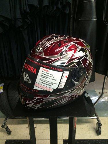 Vega Altura Full Face Helmet - M - Red
