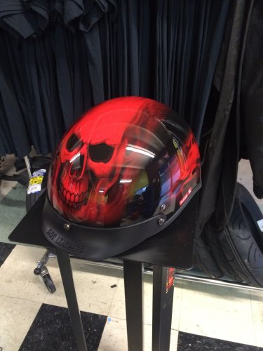 Hot Leathers Red Skull - XL