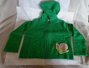 NWOT -CASHMIRACLES Boy or Girl's Green 100% Cashmere Sweater/Hoodie - Size 3T