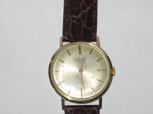 VINTAGE *VULCAIN* 14K GOLD MAN'S WRISTWATCH 17 JEWELS