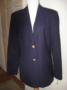 $178.00 - NWT - TALBOTS Purple (Plum) Color 100% Wool Classic Jacket - Size 6
