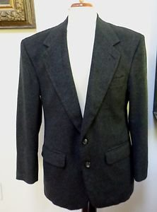 EUC - BILL BLASS Man's Charcoal 100% Cashmere 2-Button  Jacket - Size 40S