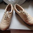 NWOB - DR. SCHOLL'S Beige Leather Double-Air Pillow Athletic Shoes Size 8 1/2 W