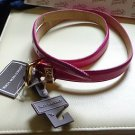 "NWT -JONES NEW YORK 3/4"" WIDE HOT PINK P.U. COATED GENUINE LEATHER BELT- Size XL"