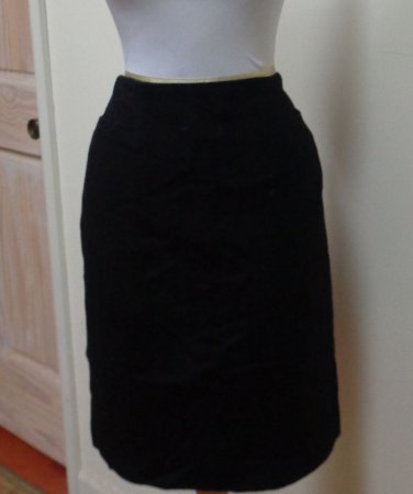 EUC - Stunning ZION Black Wool/Cashmere Blend Pencil Skirt - Size 8