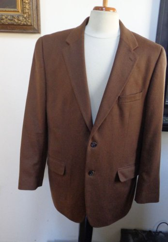 NWOT - CLUB ROOM Man's Dark Brown 100% Cashmere 2-Button Jacket - Size 42R