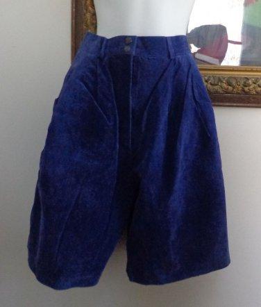 EUC- Gorgeous BAGATELLE Purple Suede Leather Bermuda/Walking Shorts - Size 8