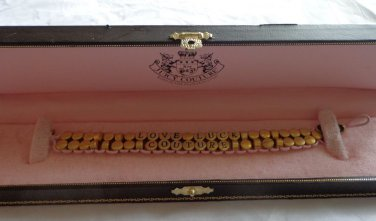 EUC - AUTHENTIC JUICY COUTURE 'LOVE LUCK COUTURE' BRACELET IN ORIGINAL BOX