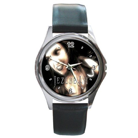 Jezebeth Round Silver Metal Watch