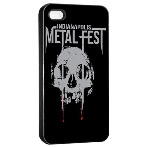 Indianapolis Metal Fest iphone 4 Seamless Case Black