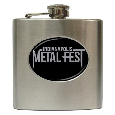 Indianapolis Metal Fest Hip Flask 6 oz