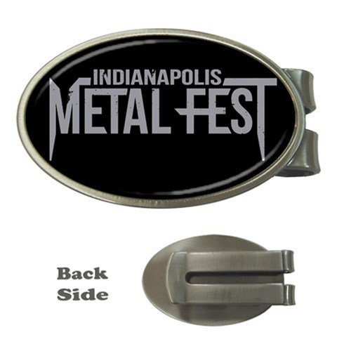 Indianapolis Metal Fest Oval Money Clip