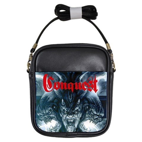 Conquest Leather Sling Bag 2