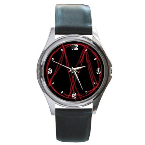 Bloody Mary Round Silver Metal Watch