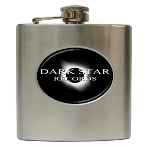 Dark Star Records Hip Flask 6 oz
