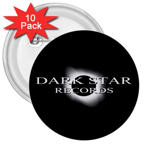 Dark Star Records 3in Buttons 10 Pack 2