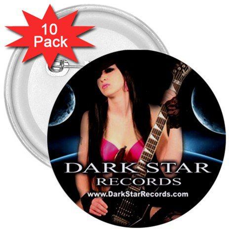 Dark Star Records 3in Buttons 10 Pack 1