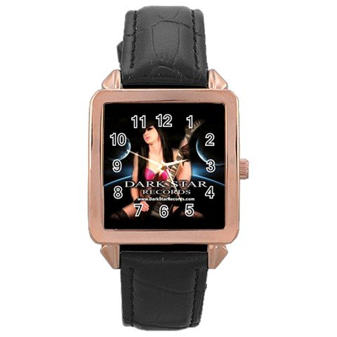 Dark Star Records Rose Gold Leather Watch 13