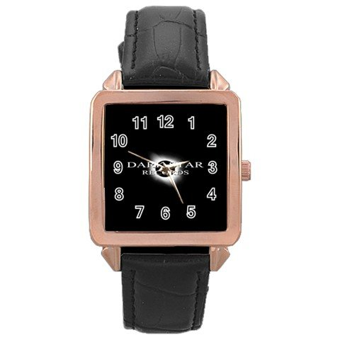 Dark Star Records Rose Gold Leather Watch 12