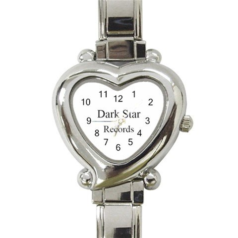 Dark Star Records Heart Italian Charm Watch 11