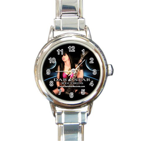 Dark Star Records Round Italian Charm Watch 9
