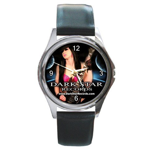 Dark Star Records Round Silver Metal Watch 1