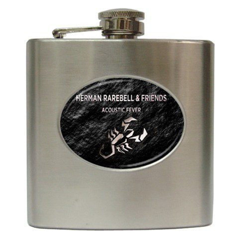 Herman Rarebell Hip Flask 6 oz