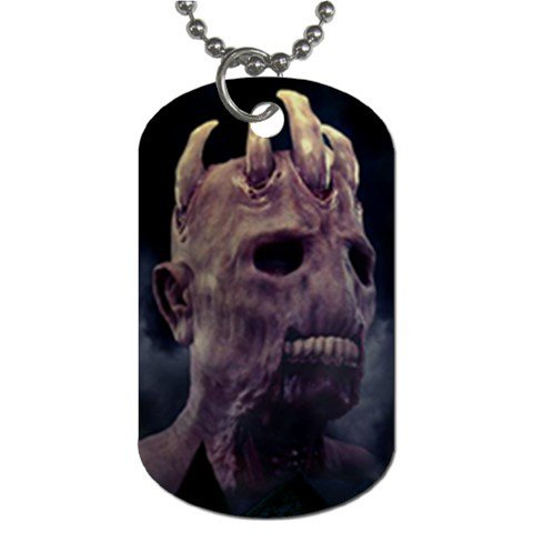 The House of Evil 2 Sided Dog Tag and Chain