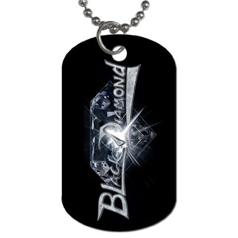 Black Diamond 2 Sided Dog Tag and Chain