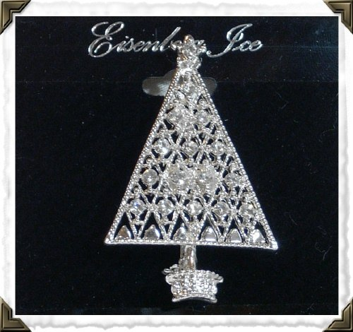 Eisenberg Ice Christmas Tree Sliver Lattice Pin