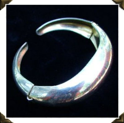 Vintage Coro Silver Plated Dual Hinged Bracelet c.1940s