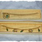 Bracelets - Two Green Agate / Jade w/Goldtone