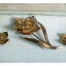 GORGEOUS Giovanni Italian Brooch/Earring Set