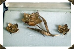 GORGEOUS Giovanni Italian Brooch/Earring Set