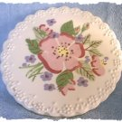 Cleminsons Hand Painted Trivet ~ Pansy c. 1940's