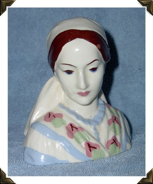 California Pottery Womans Head