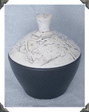 Cleminson's Black & White Mid Century Modern Covered Dish