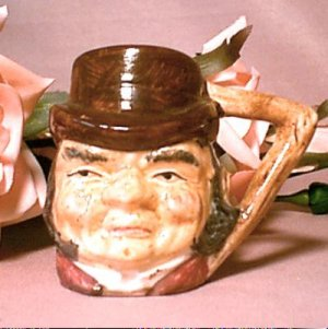 Sterling Miniature Toby Jug, Cup or Shot Glass ~ Farmer Giles
